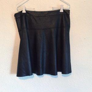 Teen Vogue black Pleather mini skirt